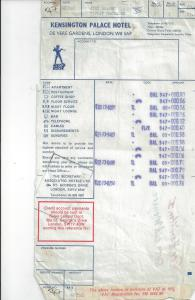 ucet z hotelu GB 1973